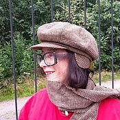 Аксессуары ручной работы. Ярмарка Мастеров - ручная работа комплект - кепка с шарфом. Handmade.