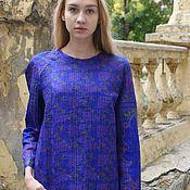 """Одежда ручной работы. Ярмарка Мастеров - ручная работа Стеганая блуза """"Синий фиолет"""". Handmade."""
