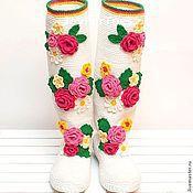 """Обувь ручной работы. Ярмарка Мастеров - ручная работа Сапожки """"Розы"""" (улица). Handmade."""