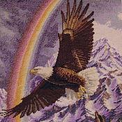 """Картины ручной работы. Ярмарка Мастеров - ручная работа Вышитая картина """"Парящий орел"""". Handmade."""