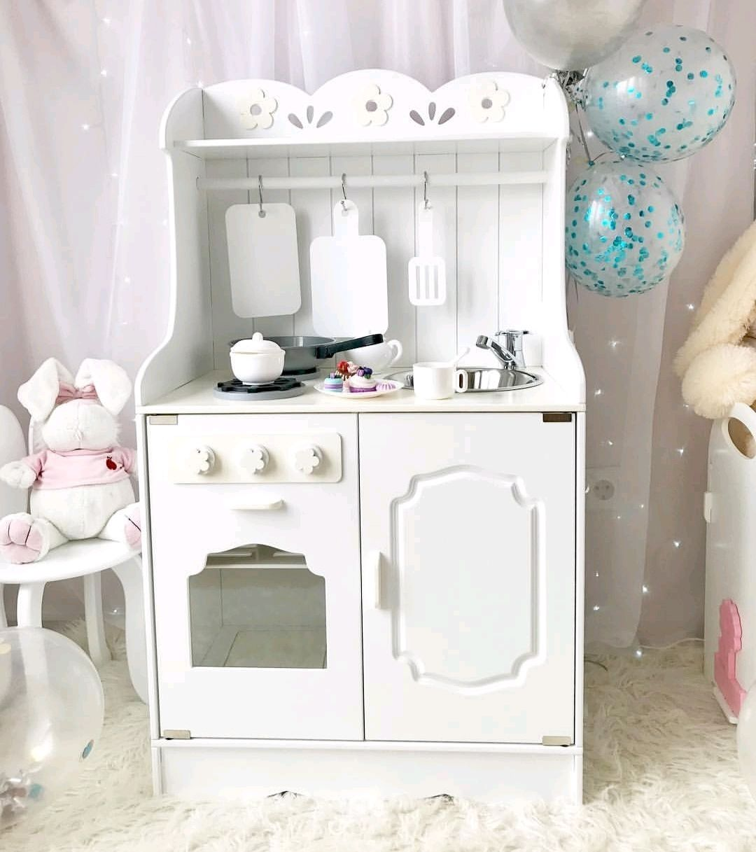Children's play kitchen wooden with light in the oven, Doll furniture, Ivanovo,  Фото №1