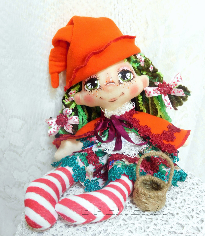 Текстильная кукла Красная Шапочка. Кукла текстильная интерьерная, Куклы и пупсы, Месягутово,  Фото №1
