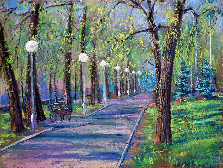аллея в парке рисунок можно спрятаться
