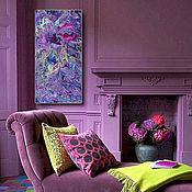 Картины и панно ручной работы. Ярмарка Мастеров - ручная работа Фиолетовое вдохновение. Handmade.