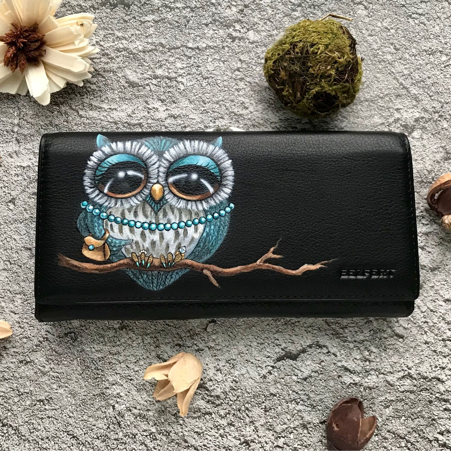 Wallet with the painting ' fashionable owl», Wallets, Moscow,  Фото №1