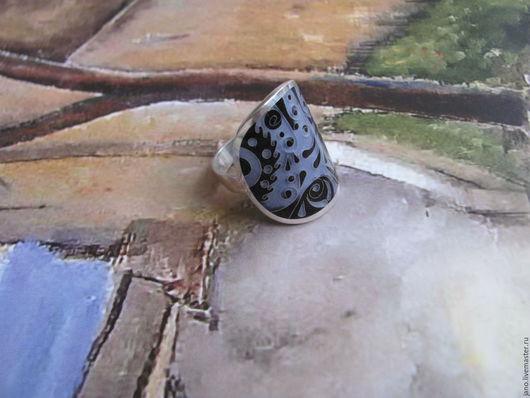 """Кольца ручной работы. Ярмарка Мастеров - ручная работа. Купить кольцо """"Сирень"""". Handmade. Тёмно-фиолетовый, кольцо, эмаль, Минанкари"""