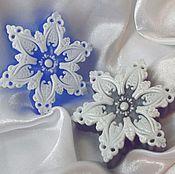 Косметика ручной работы. Ярмарка Мастеров - ручная работа Мыло снежинка. новогоднее мыло (9). Handmade.