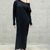 Одежда handmade. Livemaster - original item Knitted dress elongated loose cut Lia. Handmade.