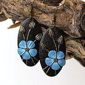 Украшения handmade. Livemaster - original item Earrings made of polymer clay Linen. Handmade.
