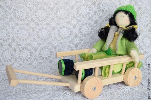 Декупаж и роспись ручной работы. Ярмарка Мастеров - ручная работа. Купить Тележка для куклы. Handmade. Белый, тележка для игрушек