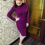 Одежда ручной работы. Ярмарка Мастеров - ручная работа Платье с аранами спицами. Handmade.