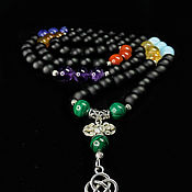 Фен-шуй и эзотерика handmade. Livemaster - original item Rosary for 7 Chakras with Shungite. Handmade.