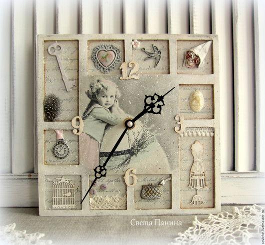 """Часы для дома ручной работы. Ярмарка Мастеров - ручная работа. Купить """"Happy Easter"""" Часы. Handmade. Часы- витрина"""