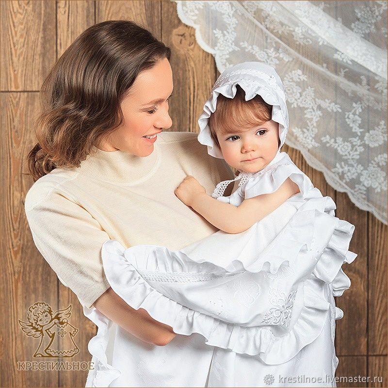 Комплект для крещения с тёплой пеленкой Дарья, Комплекты одежды, Москва, Фото №1