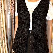 Одежда ручной работы. Ярмарка Мастеров - ручная работа вязаный жилет из альпаки. Handmade.