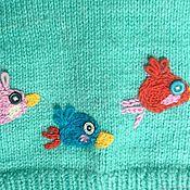 Работы для детей, handmade. Livemaster - original item Knitted jumper Angry Birds mint. Handmade.