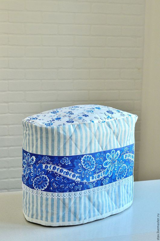 """Кухня ручной работы. Ярмарка Мастеров - ручная работа. Купить Чехол для хлебопечки""""Кухня в стиле прованс""""голубой,синий,в полоску. Handmade. Голубой"""
