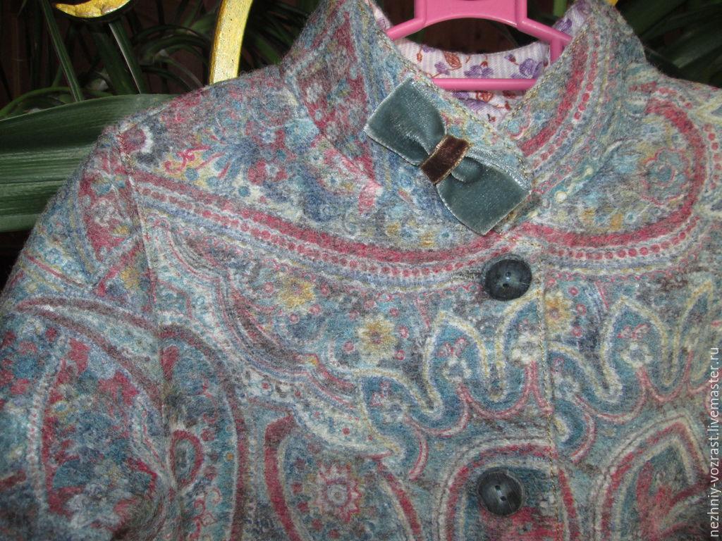"""Верхняя одежда ручной работы. Ярмарка Мастеров - ручная работа. Купить Пальто """"Пейсли."""". Handmade. Разноцветный, пальто из шерсти"""