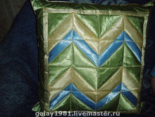 Текстиль, ковры ручной работы. Ярмарка Мастеров - ручная работа. Купить диванная подушка. Handmade. Салатовый, диванная подушка