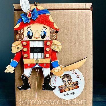 Куклы и игрушки ручной работы. Ярмарка Мастеров - ручная работа Игрушки:щелкунчик с подвижными руками и ногами. Handmade.