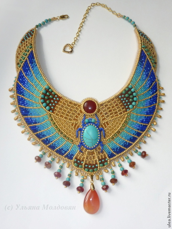 necklace in egyptian style shop online on livemaster