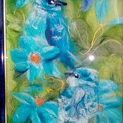 Картины и панно ручной работы. Ярмарка Мастеров - ручная работа Истина в клюве у синицы. Handmade.