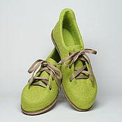"""Обувь ручной работы. Ярмарка Мастеров - ручная работа Туфли из шерсти """"Очарование яблочной свежести"""". Handmade."""