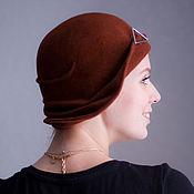 Аксессуары ручной работы. Ярмарка Мастеров - ручная работа шляпа клош «молочный шоколад». Handmade.