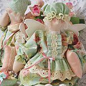 Куклы и игрушки ручной работы. Ярмарка Мастеров - ручная работа Семья сплюшек , персик и мята. Handmade.