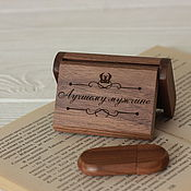 Сувениры и подарки handmade. Livemaster - original item stick: Flash drive case