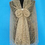 Аксессуары handmade. Livemaster - original item 303 down stole orenburg openwork goat down accessories. Handmade.