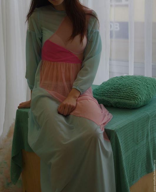 Платья ручной работы. Ярмарка Мастеров - ручная работа. Купить платье. Handmade. Белый, Платье нарядное, сетка стрейч