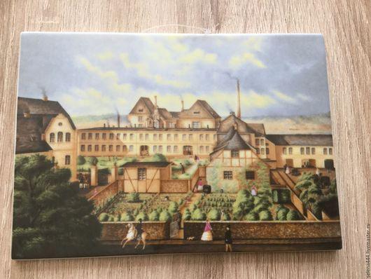 Город ручной работы. Ярмарка Мастеров - ручная работа. Купить Панно миниатюрное Feurstenberg. Handmade. Комбинированный, фарфор