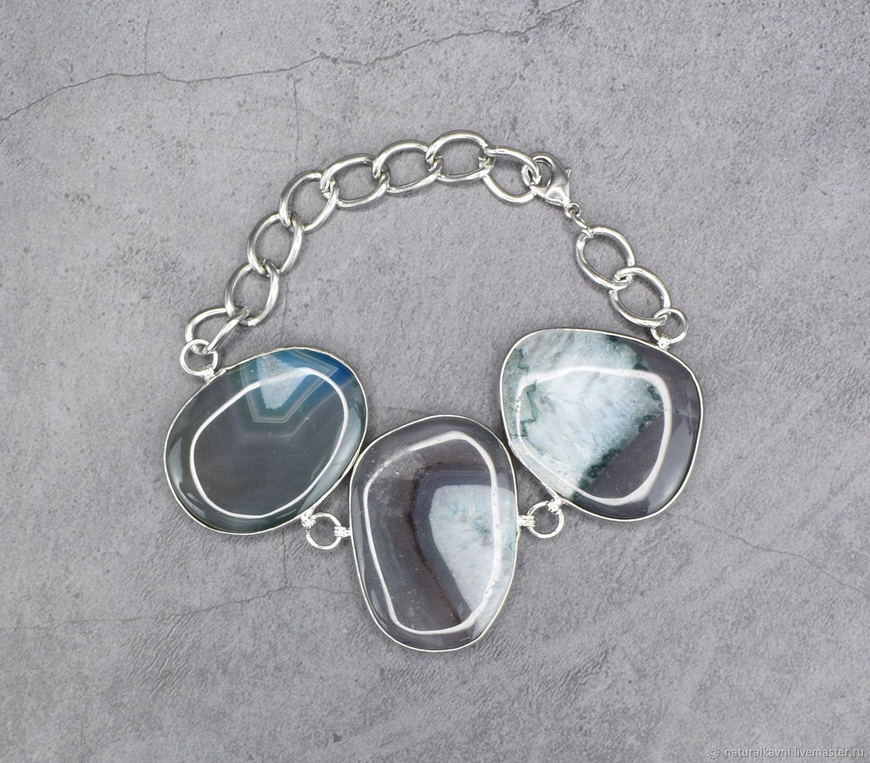 Bracelet natural stone agate, Bead bracelet, Moscow,  Фото №1