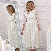 Платье из ангоры на сетке