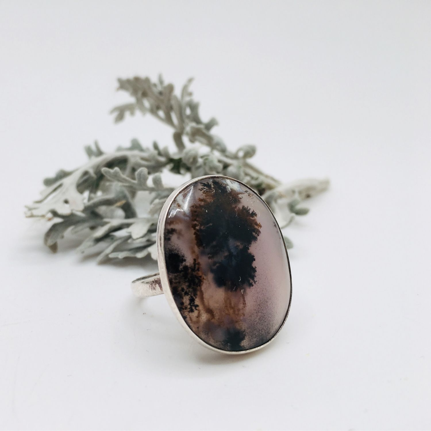 Ring with moss agate, Rings, Feodosia,  Фото №1