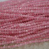 Бусины ручной работы. Ярмарка Мастеров - ручная работа Бусины из розового кварца 2 мм. Handmade.