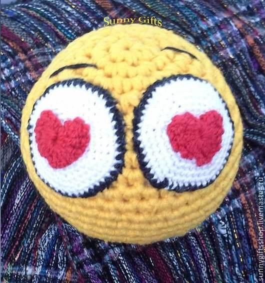"""Подарки для влюбленных ручной работы. Ярмарка Мастеров - ручная работа. Купить Smile """"Love Ya"""". Handmade. Желтый, смайл"""