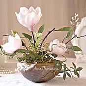 Composition handmade. Livemaster - original item Interior arrangement the Magnolia is tender. Handmade.