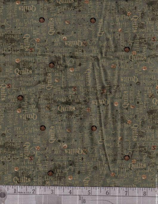 Шитье ручной работы. Ярмарка Мастеров - ручная работа. Купить 1197 Американская ткань. Handmade. Темно-серый, ткань с рисунком