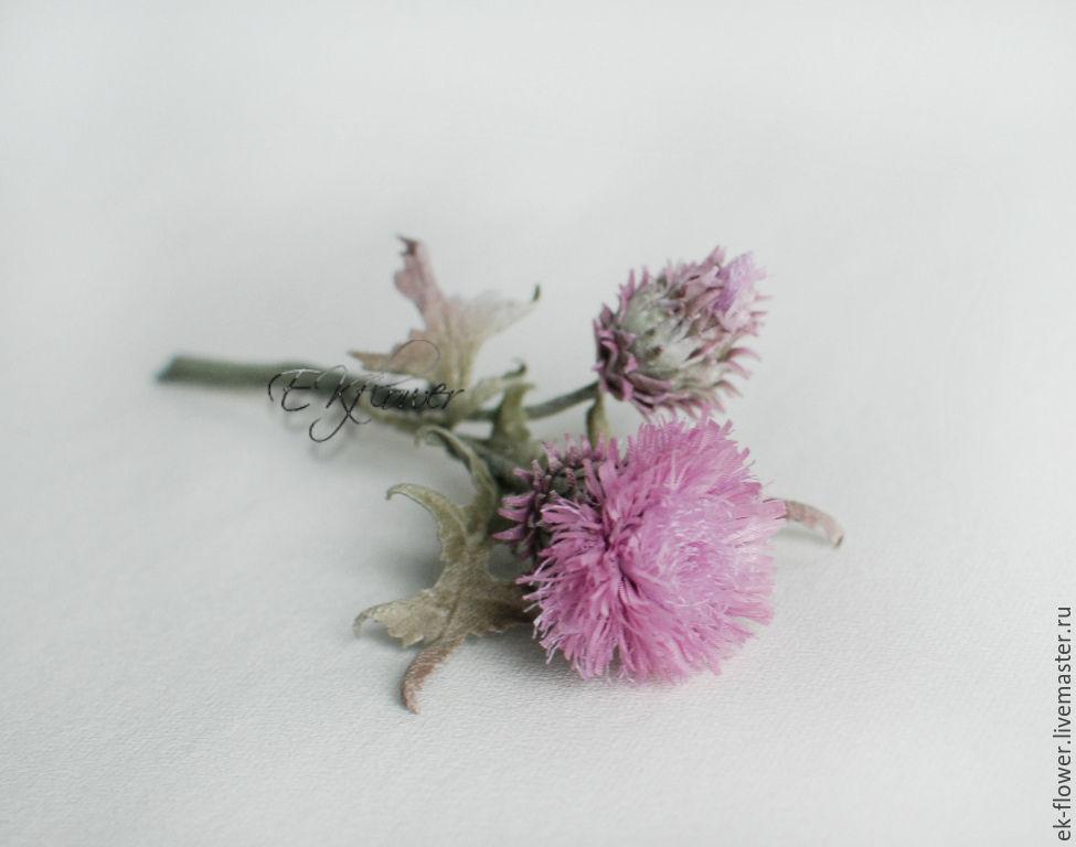 Flowers made of fabric silk flowersistle shop online on thistle flowers handmade livemaster handmade buy flowers made of fabric silk flowers mightylinksfo