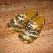 """Обувь ручной работы. Ярмарка Мастеров - ручная работа Тапочки из шерсти """"Тигры идут"""". Handmade."""