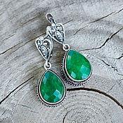 Украшения handmade. Livemaster - original item Royal earrings with emeralds
