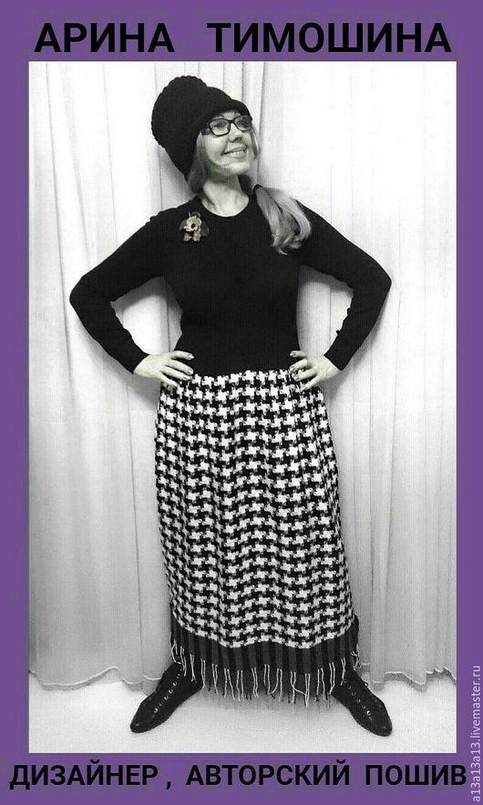Платья ручной работы. Ярмарка Мастеров - ручная работа. Купить Осень-Зима Платье Э- 47. Handmade. Чёрно-белый