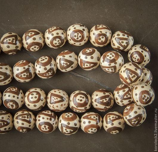 Для украшений ручной работы. Ярмарка Мастеров - ручная работа. Купить Круглые деревянные бусины Африка, 15 мм.. Handmade.