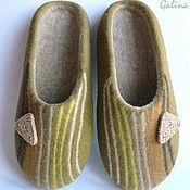 Обувь ручной работы handmade. Livemaster - original item mens felted slippers comfort