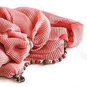 """Аксессуары ручной работы. Ярмарка Мастеров - ручная работа Шарф-колье """"Blush"""" с браслетом, натуральные камни. Handmade."""