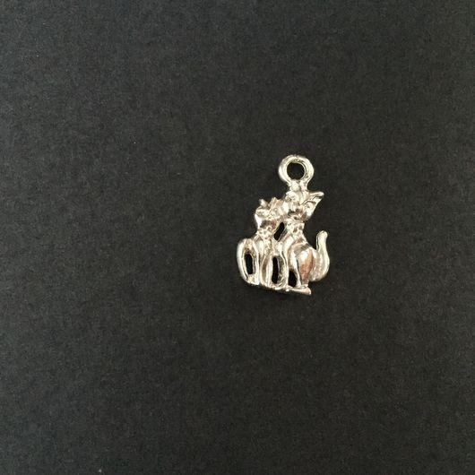 Для украшений ручной работы. Ярмарка Мастеров - ручная работа. Купить Подвеска Кошки, серебро 925 проба. Handmade. Кошки