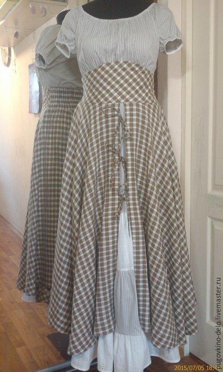 Купить длинную юбку на завязках