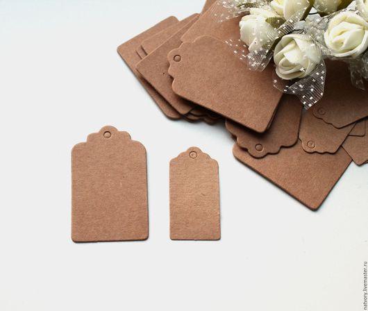 Упаковка ручной работы. Ярмарка Мастеров - ручная работа. Купить Крафт бирка 4х2 см и 5х3 см, тег ярлычок для упаковки. Handmade.